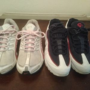 WMNS Air Max 95 LX NSW White Navy Red Satin USA AA